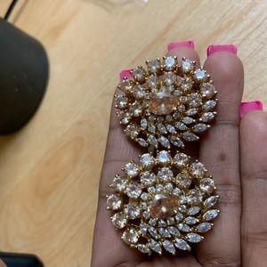 American Diamond fashion statement earrings